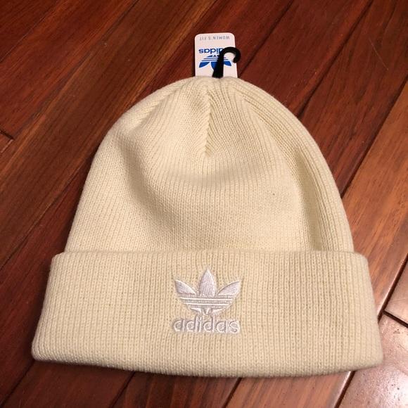 bc2ba75a9fc NWT adidas Knit Beanie Hat Cream Color